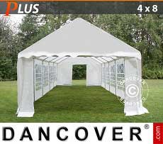 Tendoni Gazebi Party PLUS 4x8m PE, Bianco