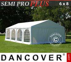 Tendoni Gazebi Party SEMI PRO Plus 6x8m PVC, Bianco