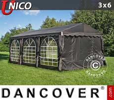 Tendoni Gazebi Party UNICO 3x6m, Nero