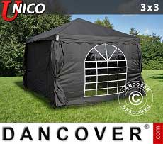 Tendoni Gazebi Party UNICO 3x3m, Nero