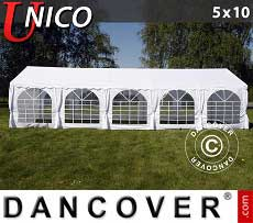 Tendoni Gazebi Party UNICO 5x10m, Bianco