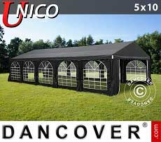 Tendoni Gazebi Party UNICO 5x10m, Nero