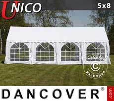 Tendoni Gazebi Party UNICO 5x8m, Bianco