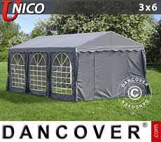 Tendoni Gazebi Party UNICO 3x6m, Grigio scuro