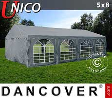 Tendoni Gazebi Party UNICO 5x8m, Grigio scuro