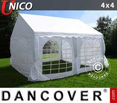 Tendoni Gazebi Party UNICO 4x4m, Bianco