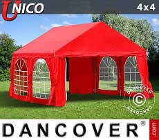 Tendoni Gazebi Party UNICO 4x4m, Rosso