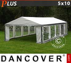 Tendoni Gazebi Party PLUS 5x10m PE, Grigio/Bianco