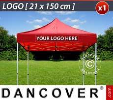 1 Stampa logo 21x150cm sulla frangia del FleXtents, centrata