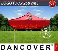 1 Stampa logo 70x250cm sul tetto del FleXtents