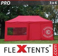 Tenda per racing PRO 3x6m Rosso, inclusi 6 fianchi