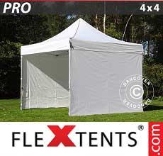 Tenda per racing PRO 4x4m Bianco, inclusi 4 fianchi