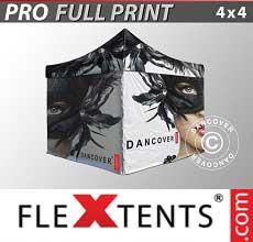 Tenda per racing PRO con completa stampa digitale, 4x4m, incl. 4..