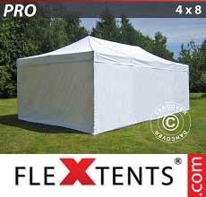 Tenda per racing PRO 4x8m Bianco, incl. 6 fianchi