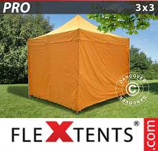 Tenda per racing PRO 3x3m Arancio, inclusi 4 fianchi