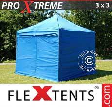 Tenda per racing Xtreme 3x3m Blu, incl 4 fianchi