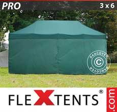 Tenda per racing PRO 3x6m Verde, inclusi 6 fianchi