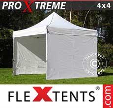 Tenda per racing Xtreme 4x4m Bianco, inclusi 4 fianchi