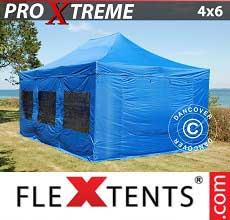 Tenda per racing Xtreme 4x6m Blu, incl 8 fianchi