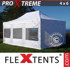 Gazebo pieghevole  Xtreme 4x6m Bianco, inclusi 8 fianchi