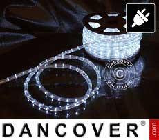 Striscia luminosa a LED 25m, Ø 1,2cm, Multifunzione, Bianco freddo