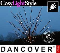 Albero di luci LED decorativo, 1,1m, luce bianca calda, 80 LED