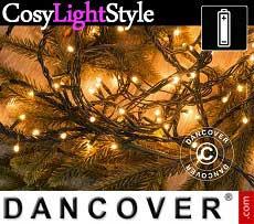 Catena luminosa con 200 lampadine LED, multifunzione, 15m, luce bianca calda