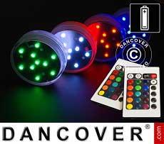 LED Luce base (4 pezzi.), DIA 7cm, multicolore