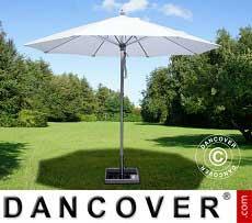 Ombrellone Bermuda, 2,5m, Bianco, incl. Base ombrellone