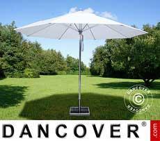 Ombrellone Bermuda, 3m, Bianco, incl. Base ombrellone