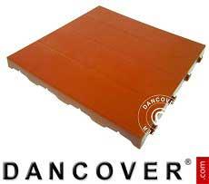 Pavimento plastica, Basic, Piastrella, Rosso terracotta, 1,44 m² (9 pz.)