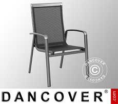 Sedia con braccioli, Forios, 63,5x69x99,5cm, 4 pz., Grigio Ghisa