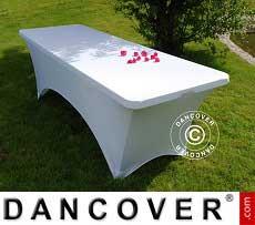 Copri-tavolo elasticizzato, 200x90x74cm, Bianco