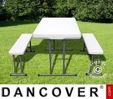 Tavolo da campeggio (113 cm) + 2 panche (95)