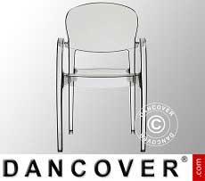 Sedia con braccioli, Joker, Transparente, 6 pz.