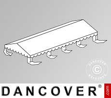 Copertura del tetto per il Tendone per feste Plus 5x8m PE, Bianco