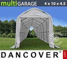 Tenda magazzino multiGarage 4x10x3,5x4,5m, Bianco