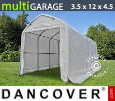 Tenda magazzino multiGarage 3,5x12x3,5x4,5m, Bianco