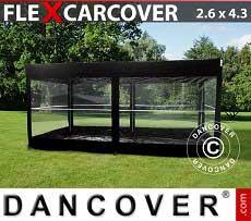 Garage portatile FleX Carcover, 2,6x4,33m, Nero