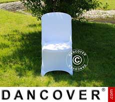Copri-sedie elasticizzato, 48x43x89cm, Bianco (1 pz)