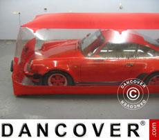 Carcoon 4x1,6 m Trasparente/Rosso, Interno