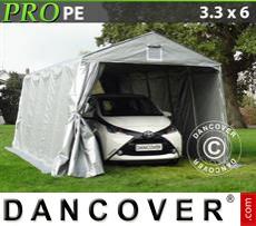 Capannone tenda PRO 3,3x6x2,4m PE, Grigio