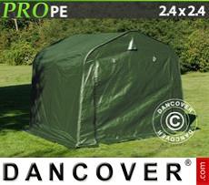 Capannone tenda PRO 2,4x2,4x2m PE, Verde