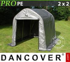 Capannone tenda PRO 2x2x2m PE, Grigio