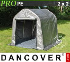 Capannone tenda PRO 2x2x2m PE, con pavimento, Grigio