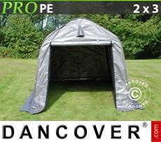 Capannone tenda PRO 2x3x2m PE, Grigio