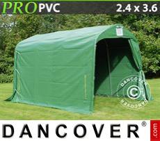 Capannone tenda PRO 2,4x3,6x2,34m PVC, Verde