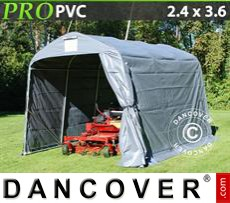 Capannone tenda PRO 2,4x3,6x2,34m PVC, Grigio