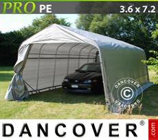 Capannone tenda PRO 3,6x7,2x2,68m PE, Grigio