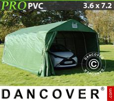 Capannone tenda PRO 3,6x7,2x2,7m PVC, verde